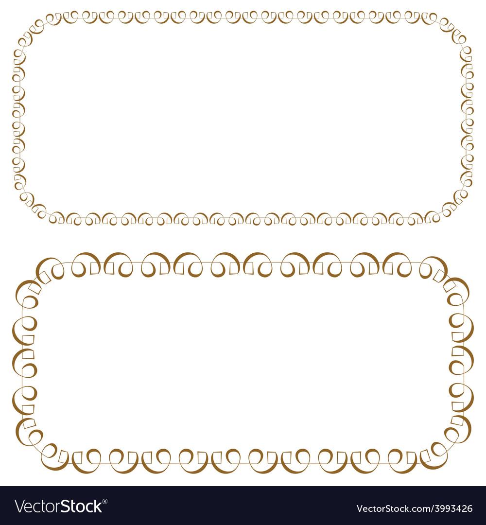 Set of rectangular beautiful frames vector