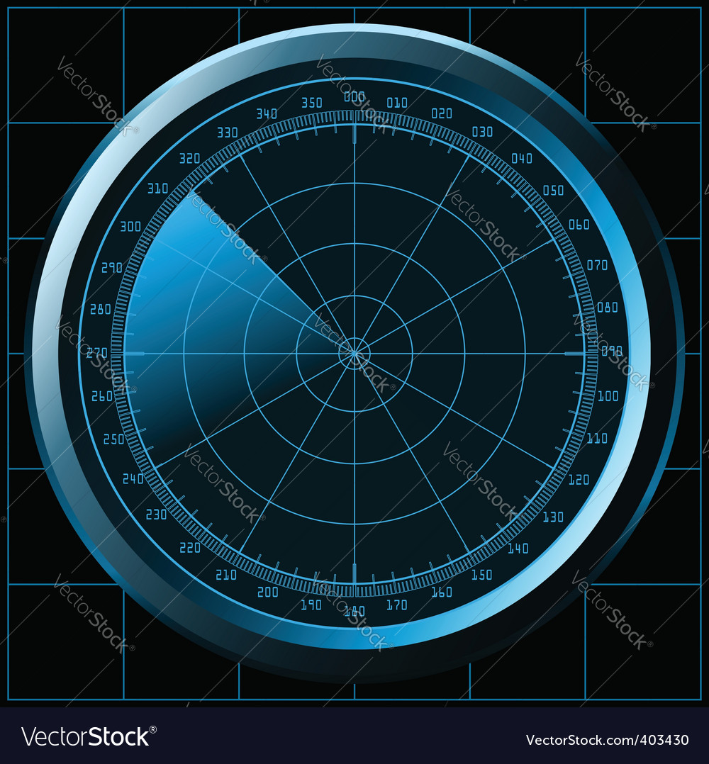 Radar screen sonar vector