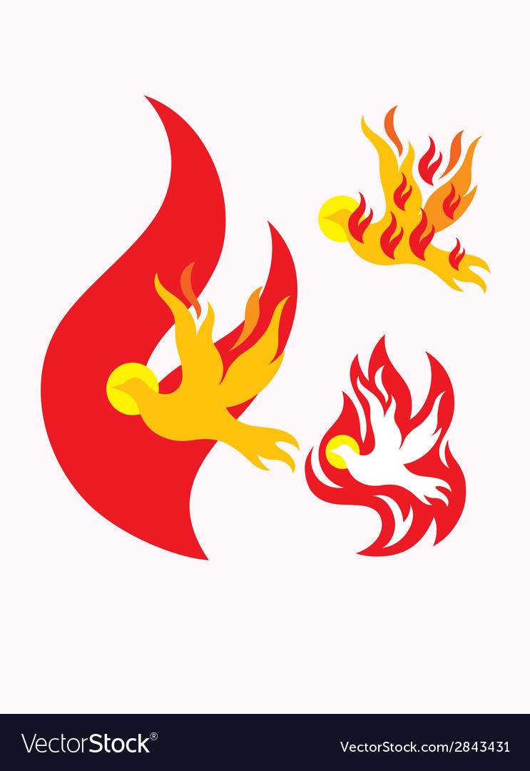 Fire holy spirit vector