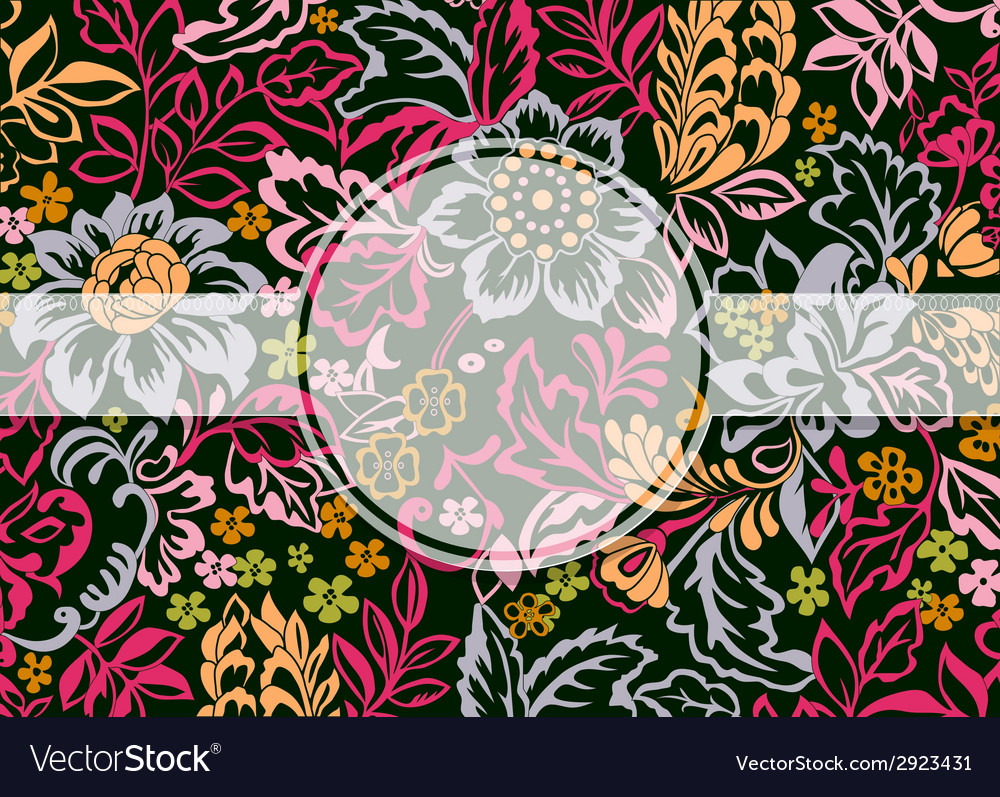 Floral ornament with copy space vector