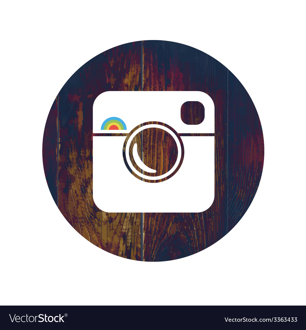 Photographic icon with cross proccess effect vector