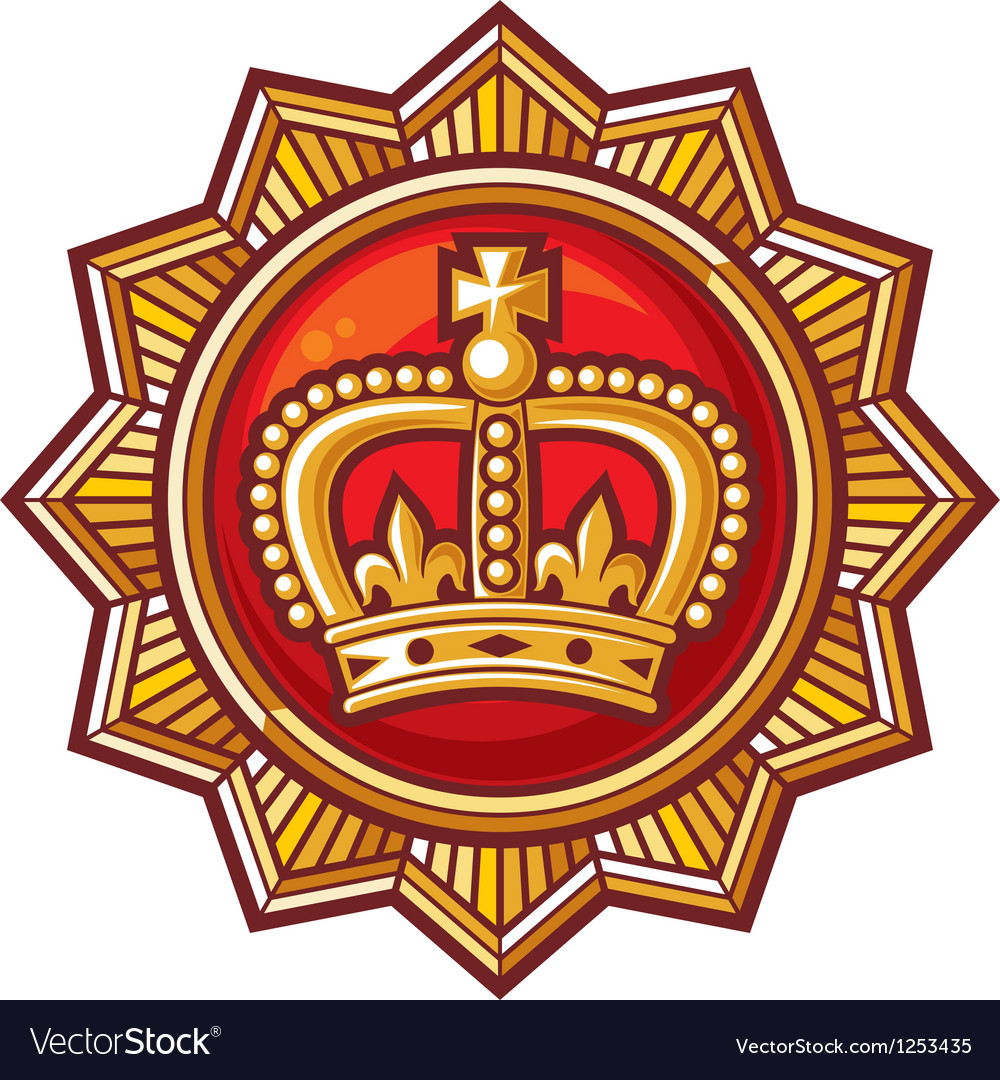 Crown badge vector