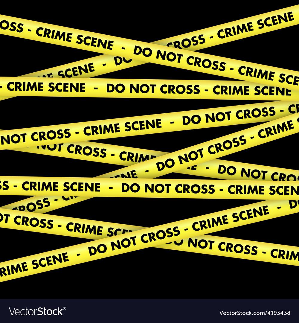 Crime scene tape background vector