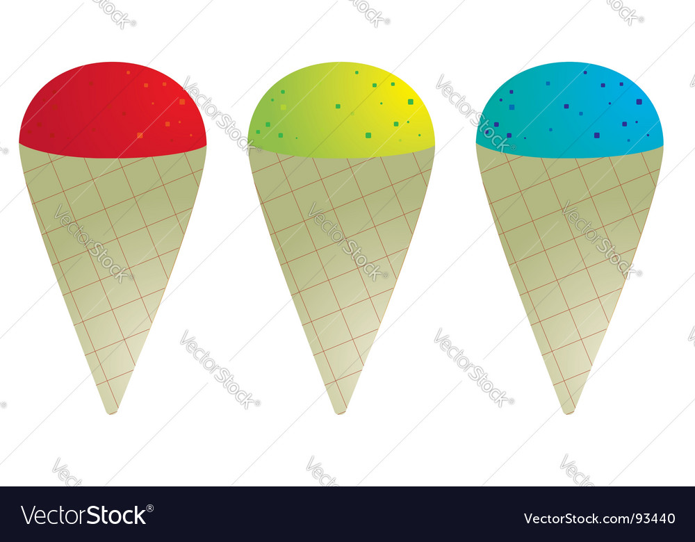 Snow cones vector