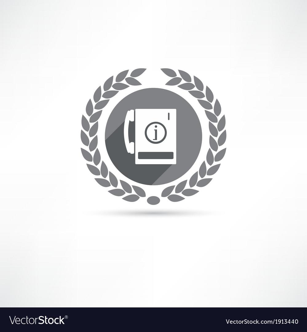 Telephone information icon vector