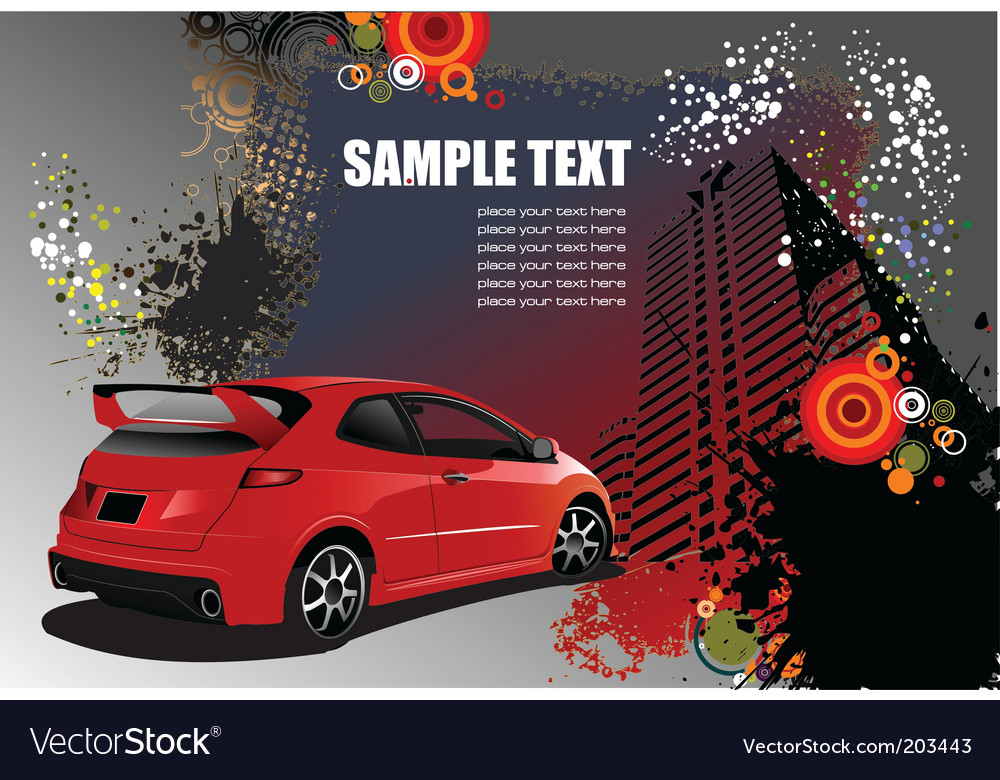 Vehicle template background vector