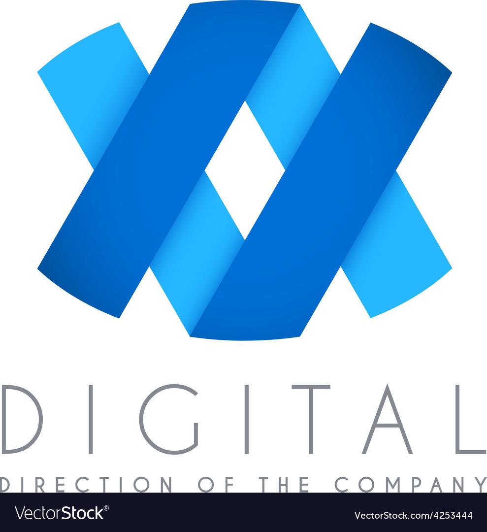 Abstract business logo icon design digital concept vector