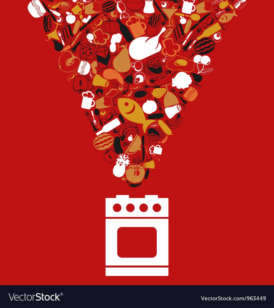 Food cooking vector
