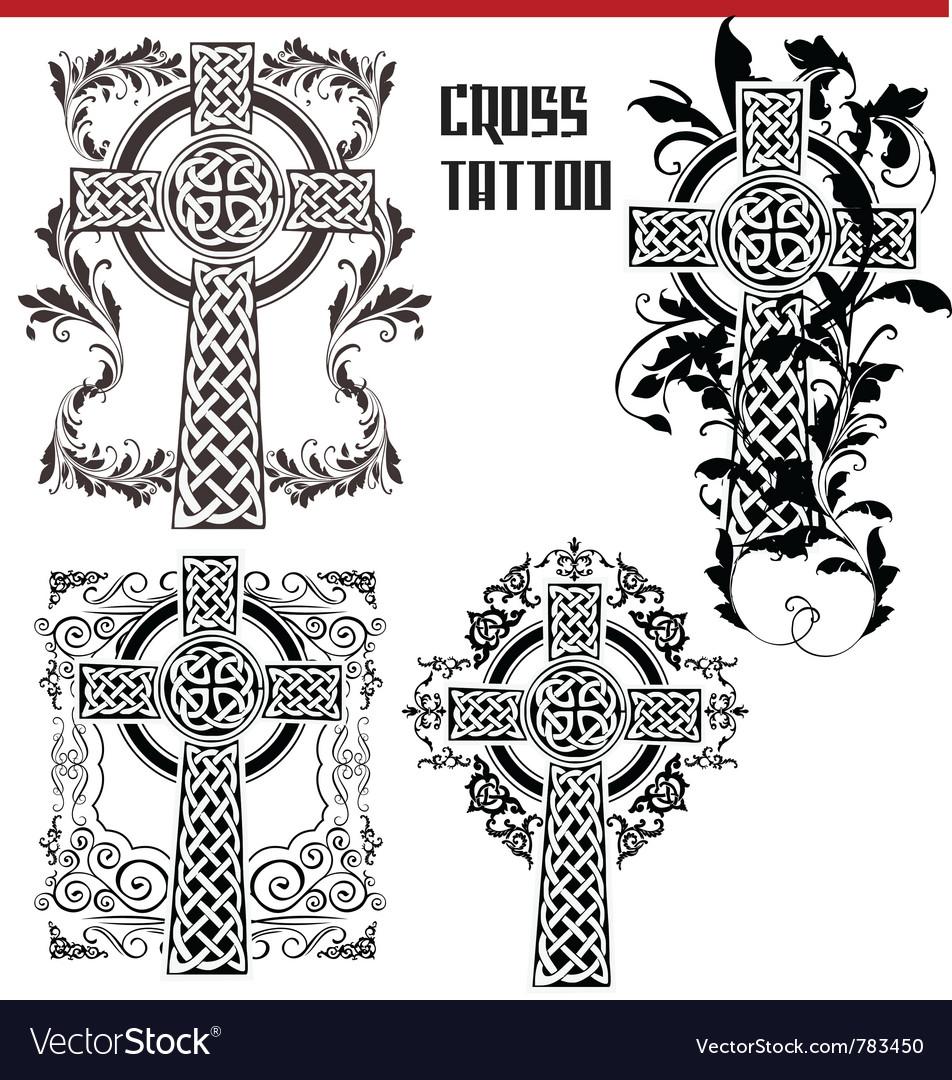 Cross tattoo vector