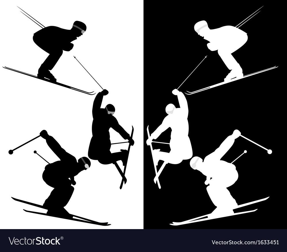 Skiers vector