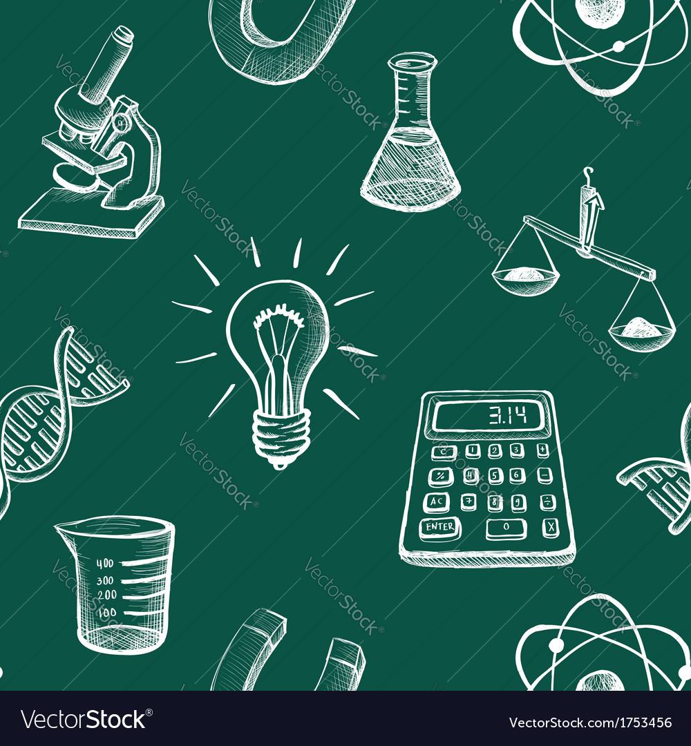 Science icons sketch vector
