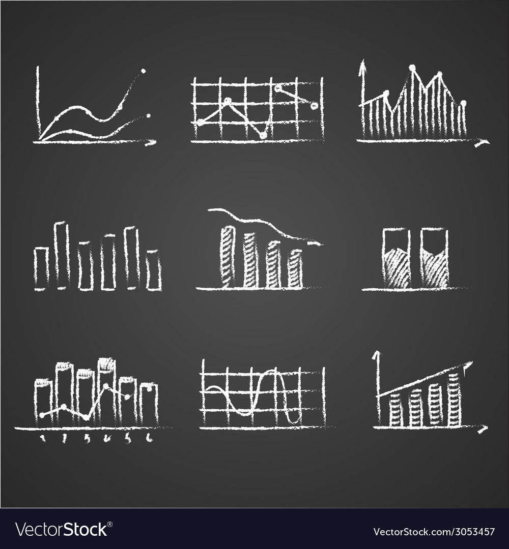 Business sketches finance statistics infographics vector