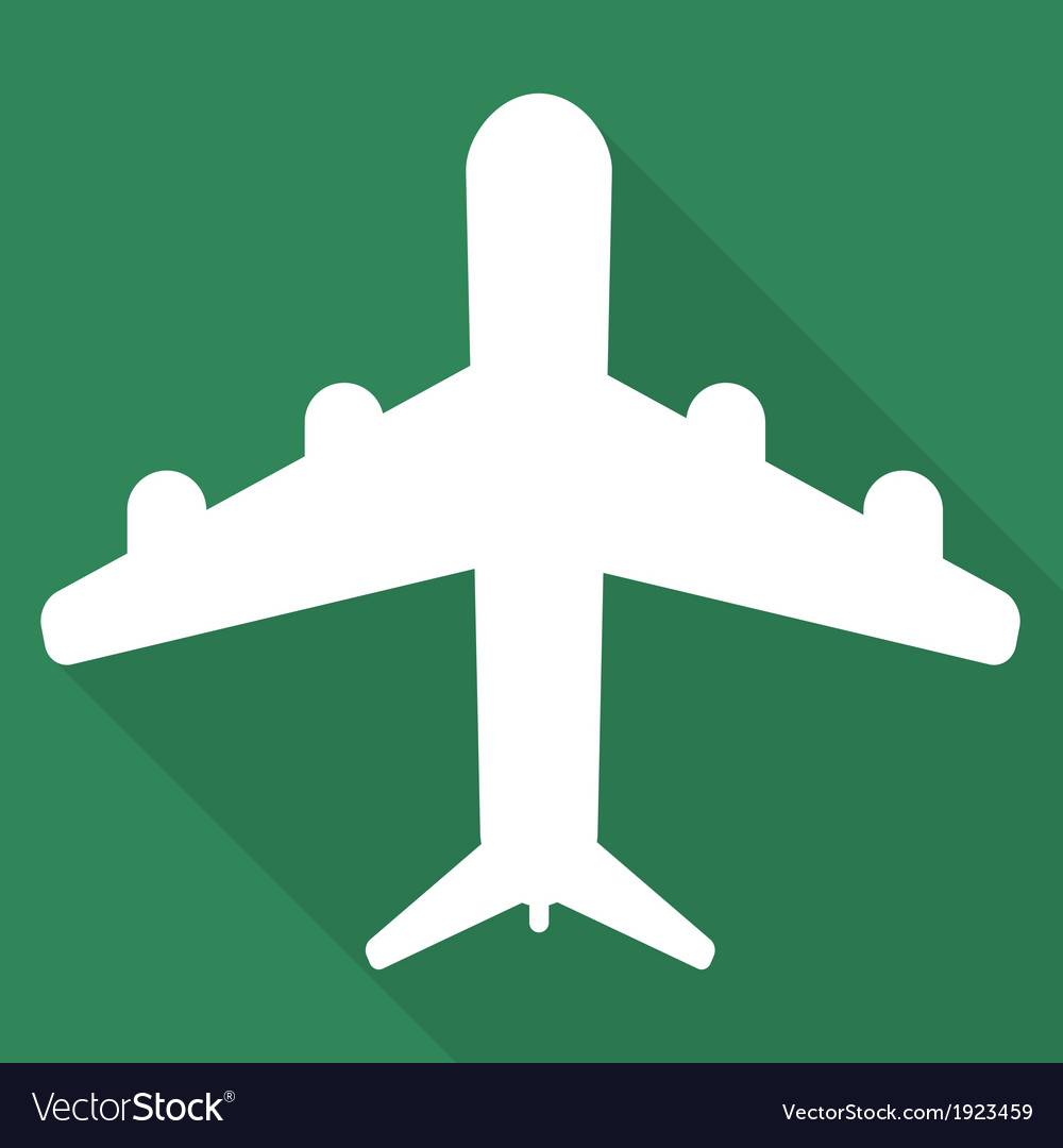 Plane airplane icon vector