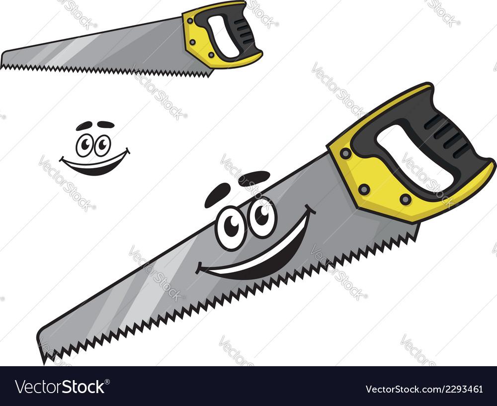 Cartoon handsaw with a happy smile vector