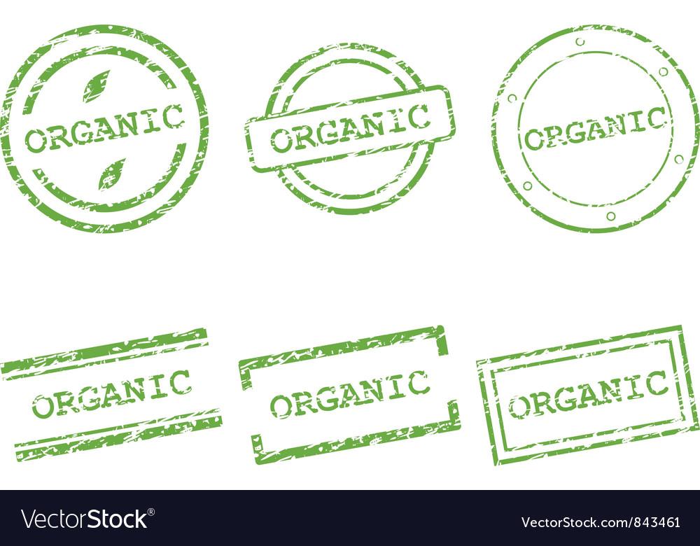 Organic stamp vector