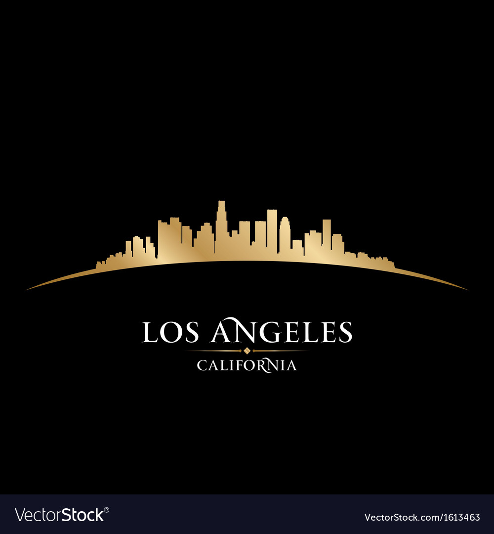 Los angeles california city skyline silhouette vector