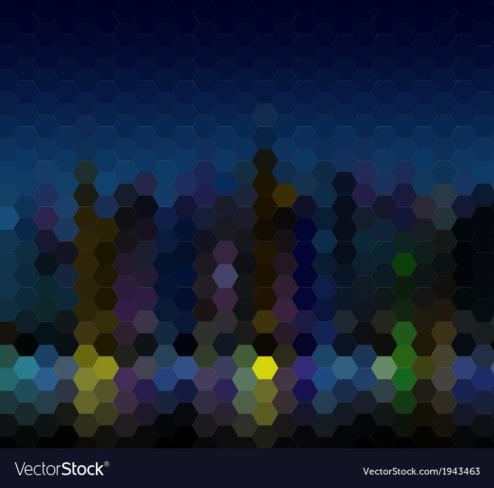 Night city abstract mosaic background vector