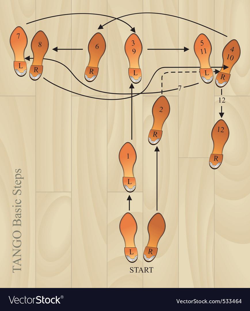 Tango basic steps vector