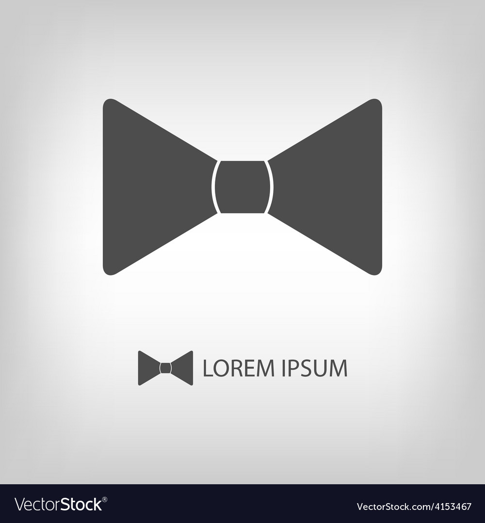 Bowtie as logo vector