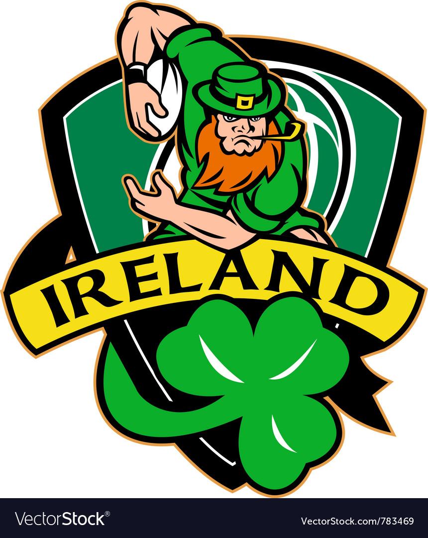Ireland rugby shield vector