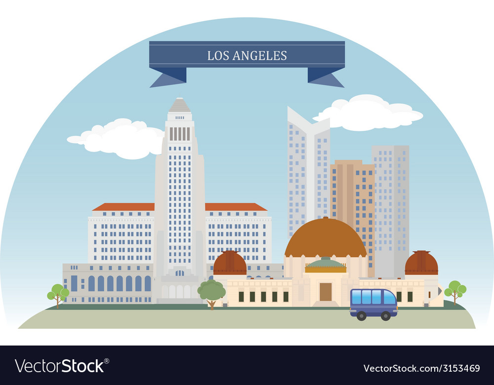 Los angeles vector