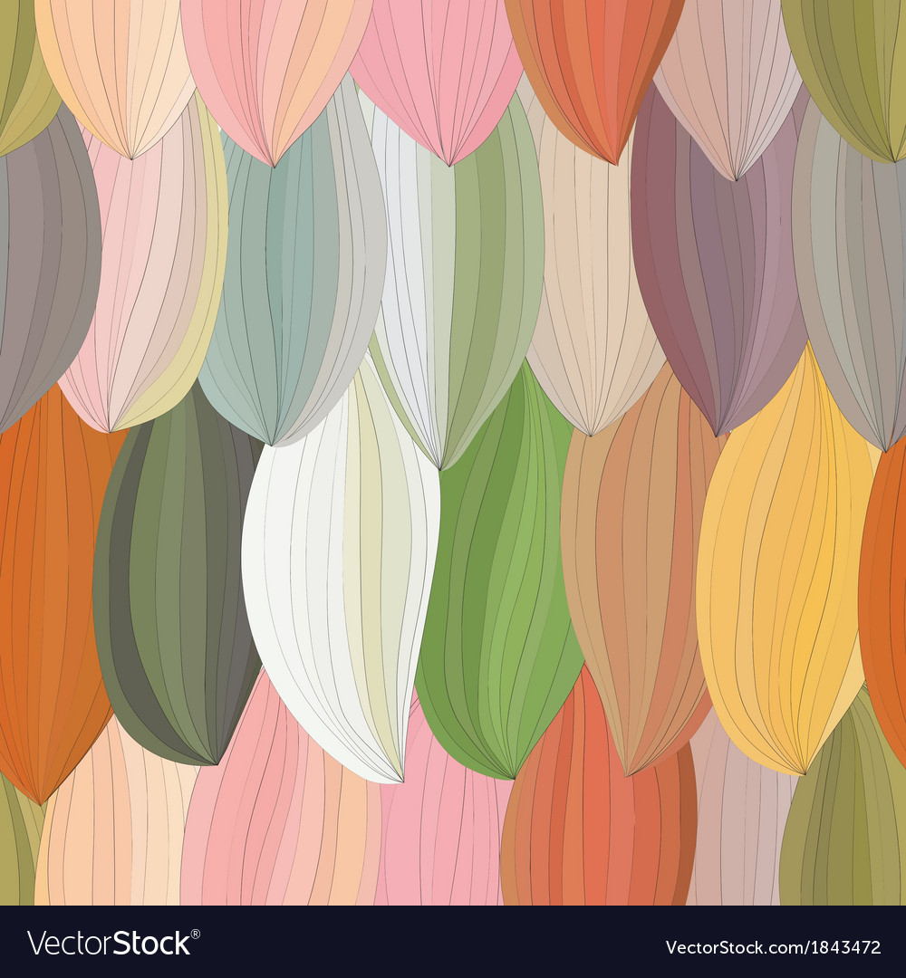 Abstract petal with contour pattern vector