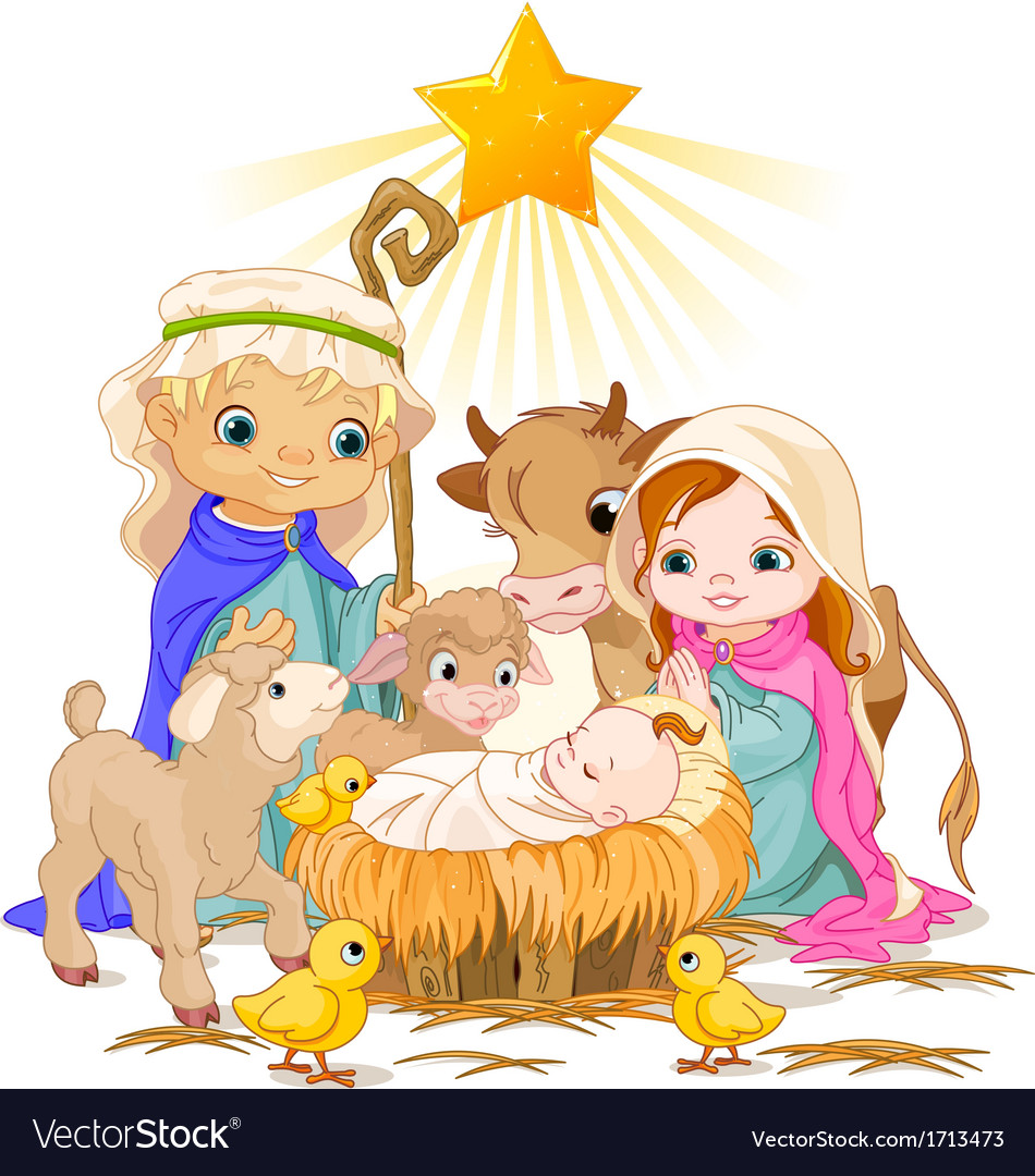 Holy family vector