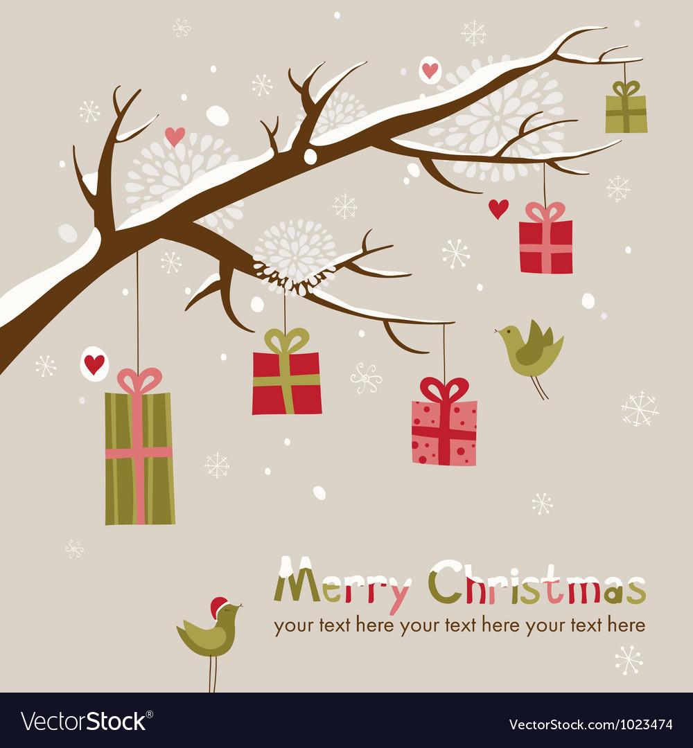 Cute christmas card vector