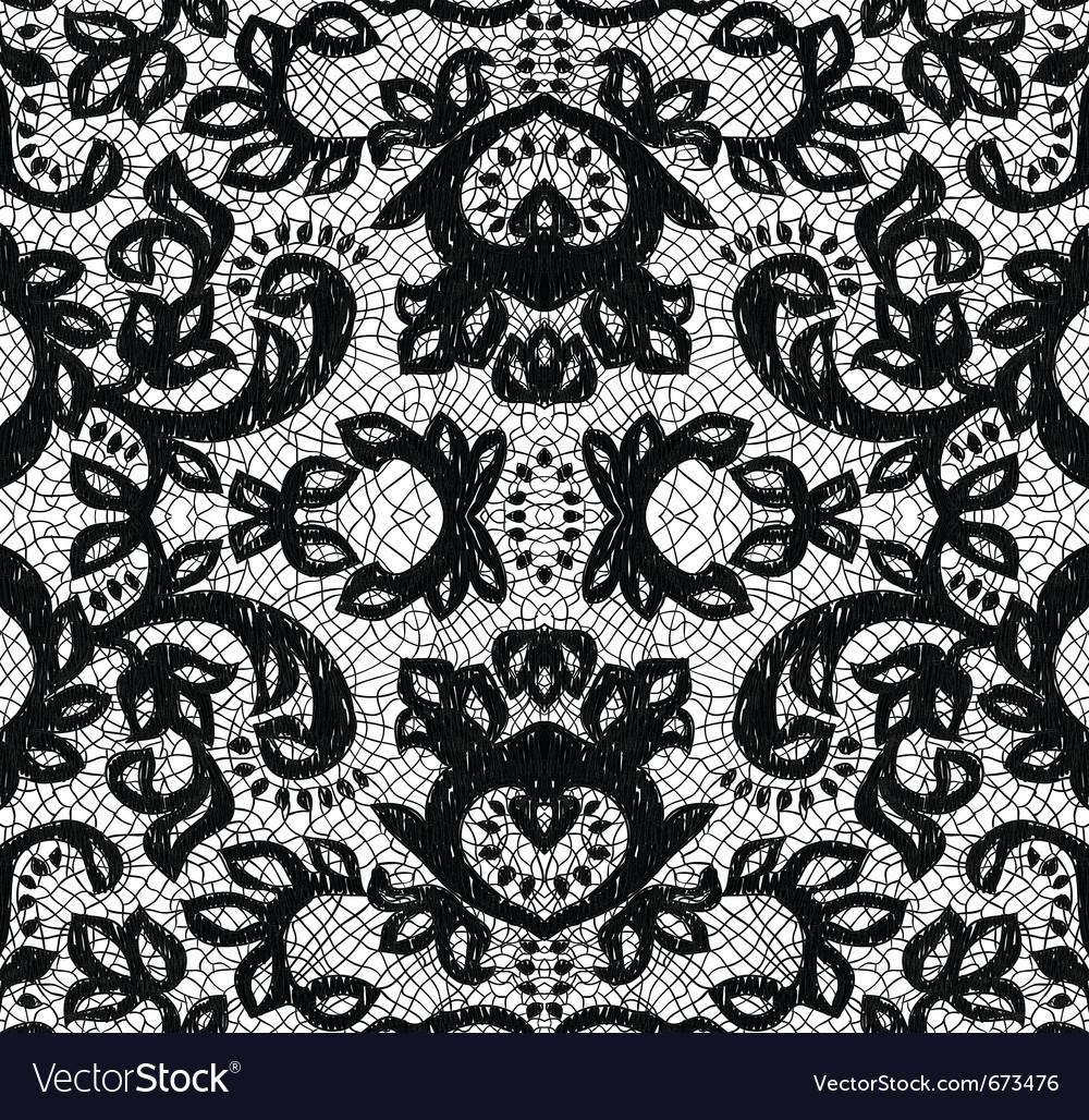 Beautiful seamless lace vector