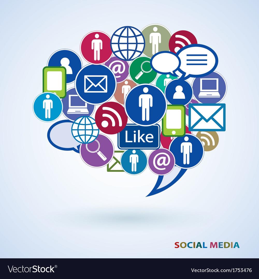 Icons of social media vector