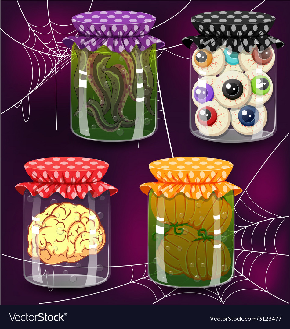 Four of bottles with potion vector