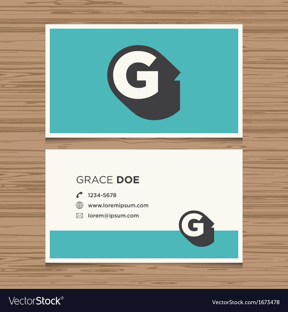 Business card letter g vector