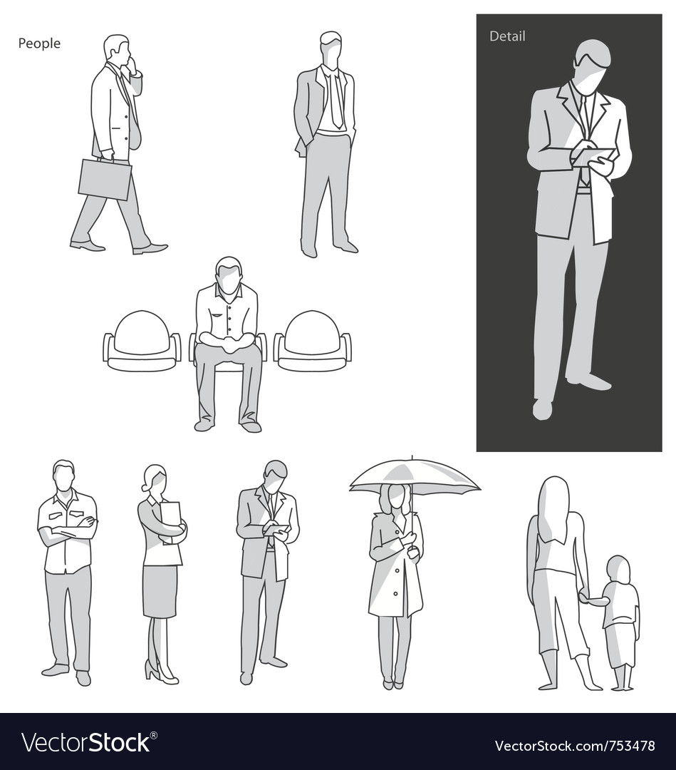 People and actions in public vector