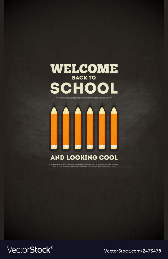 School poster pencils vector