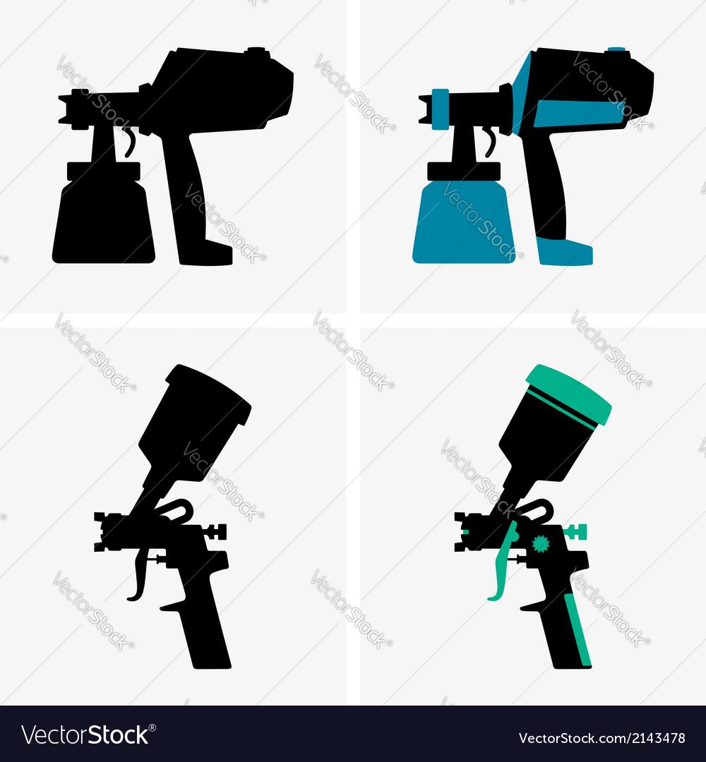 Spray guns vector