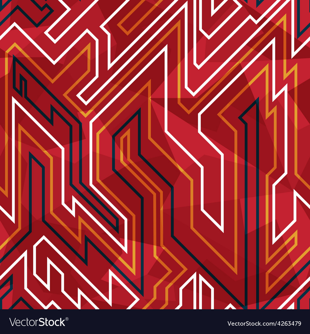Red circuit seamless pattern vector