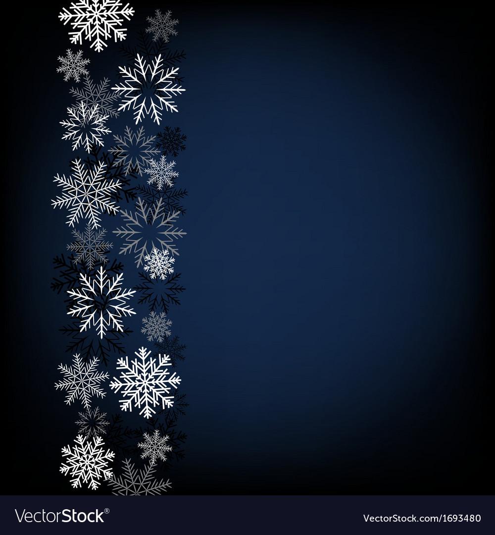 Black snow background vector