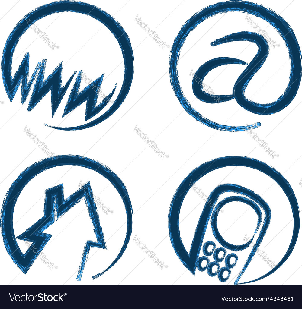 Contact web icons vector
