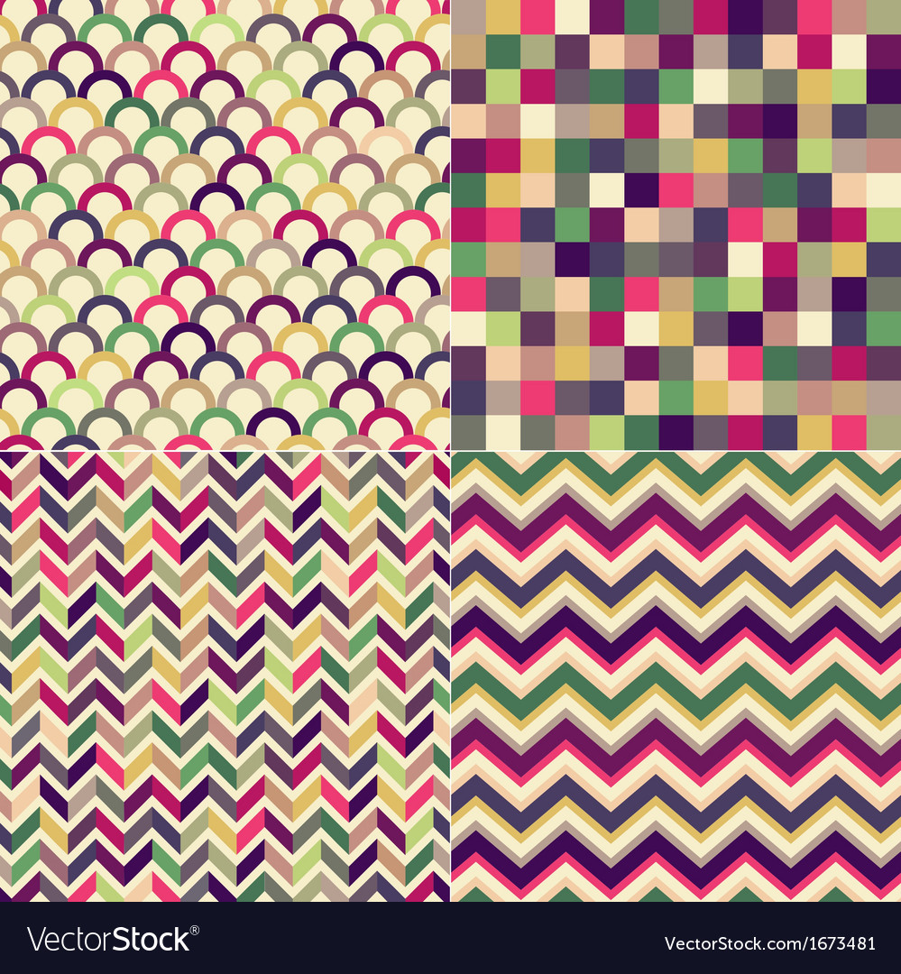 Seamless multicolored geometric pattern vector