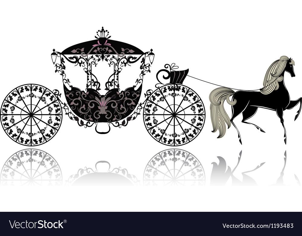 Carriage horse vector