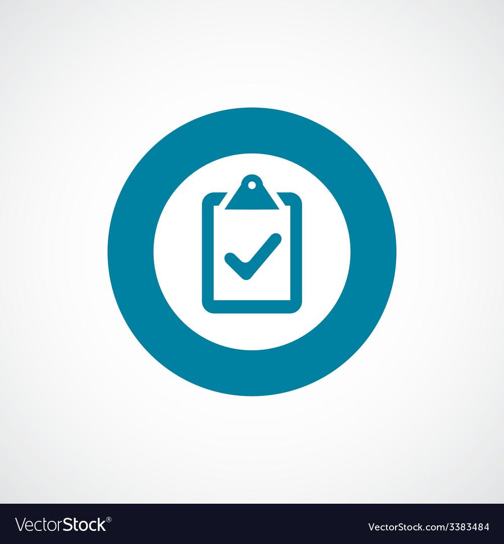 Vote bold blue border circle icon vector