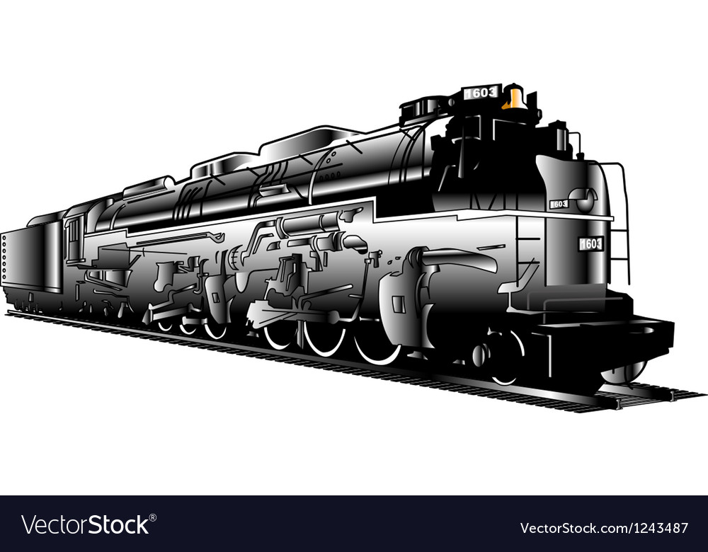 Industrial steam train vector