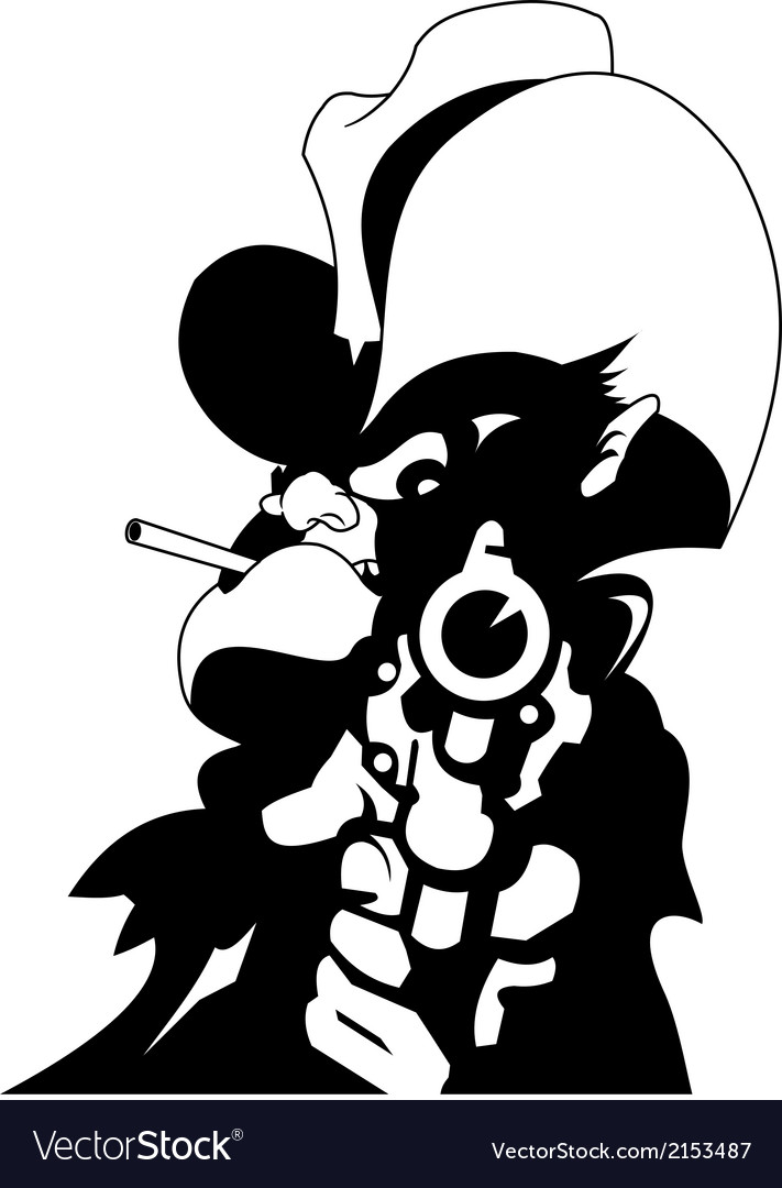 Sheriff with gun vector