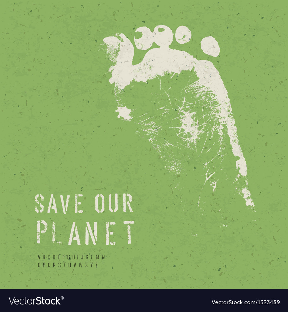 Nature conservation poster vector