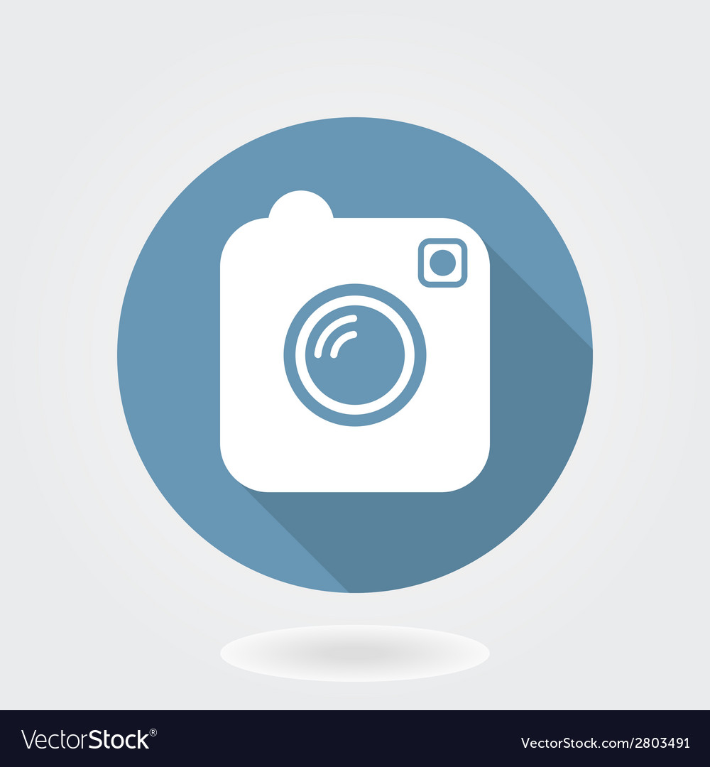 Camera like instagram icon with flat design vector