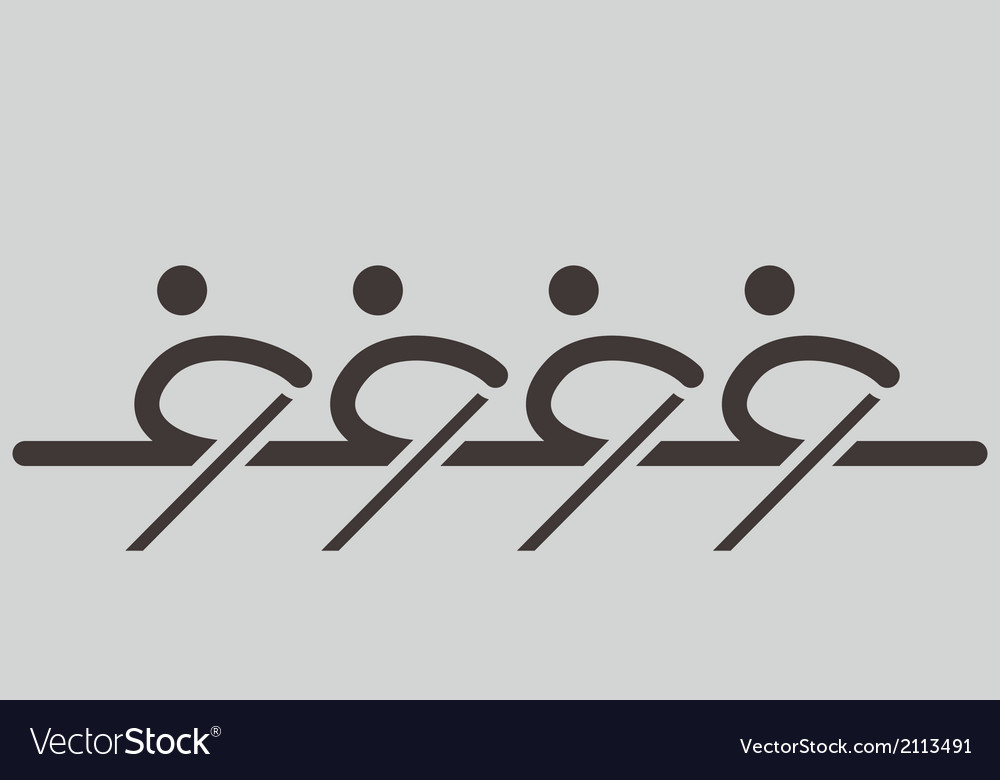 Rowing icons vector