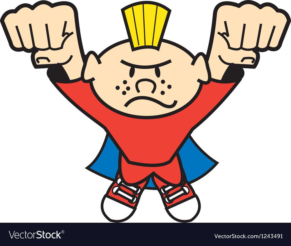 Super hero kid vector