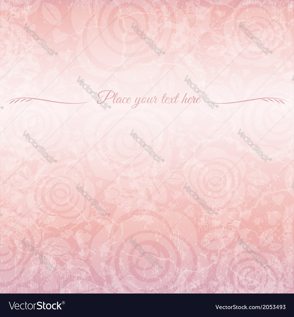 Background of roses with place for message vector