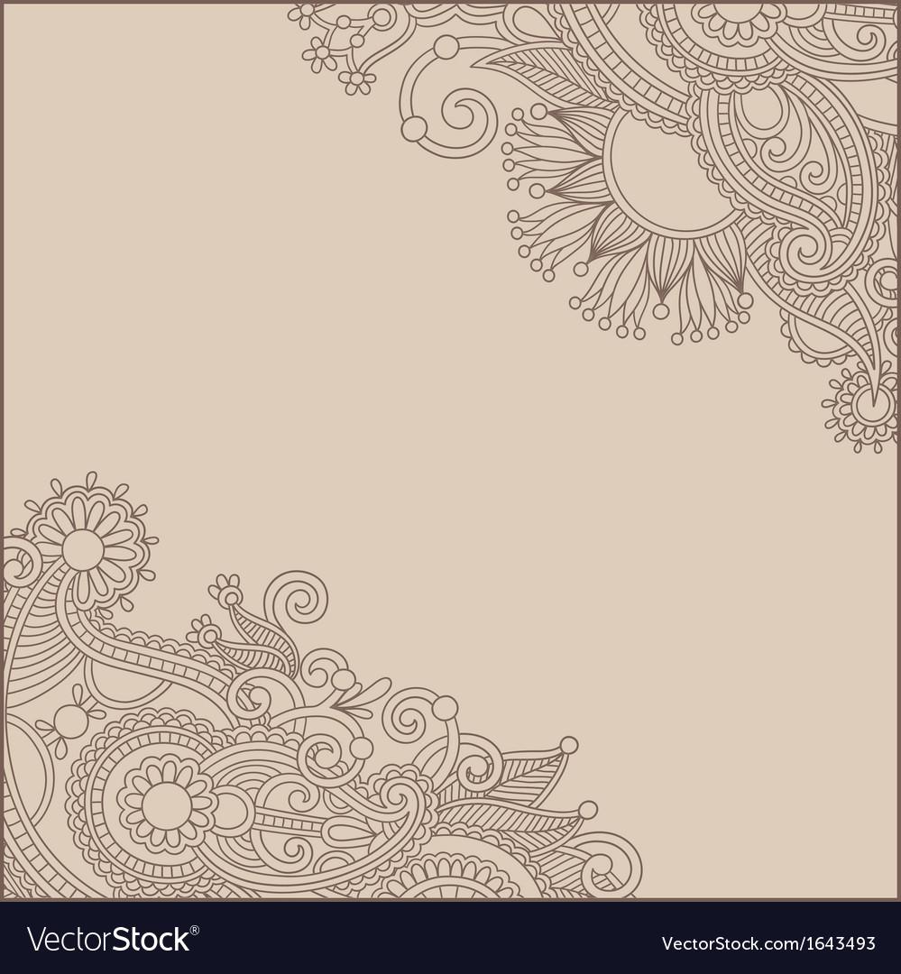 Ornamental vintage floral background vector