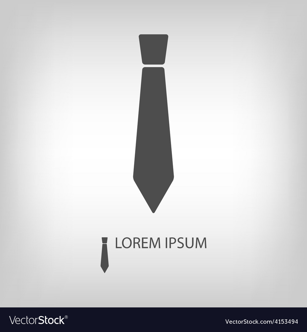 Grey tie as logo vector